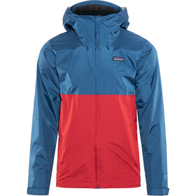 Patagonia Torrentshell Jas Heren, big sur blue w/fire red